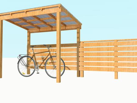 木製サイクルポートプランパース②