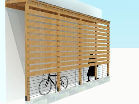 木製サイクルポートプランパース