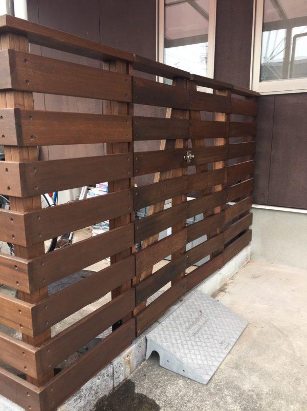 ハードウッドフェンス工事施工例