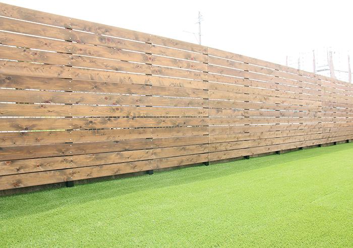 桧材ウッドフェンス